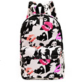 2015 Hot women printing backpacks mochila rucksack fashion canvas bags retro casual school bags travel bags 93