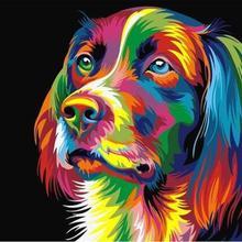0866 красочные собаки-краски по номерам наборы для взрослых DIY