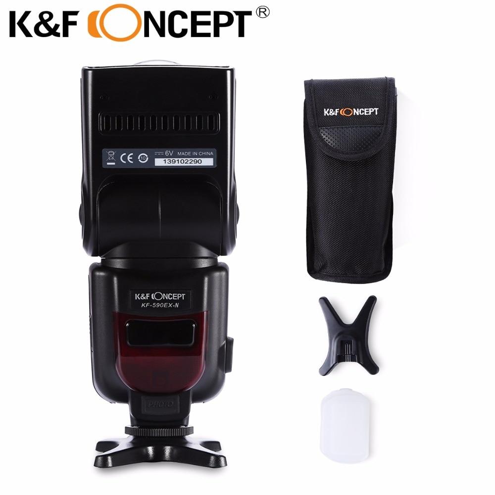 цена на K&F CONCEPT KF590EX TTL GN56 Master Flash Speedlite for Nikon D7100 D5300 D5200 Cameras + 3 free Gift for all Nikon DSLR Cameras