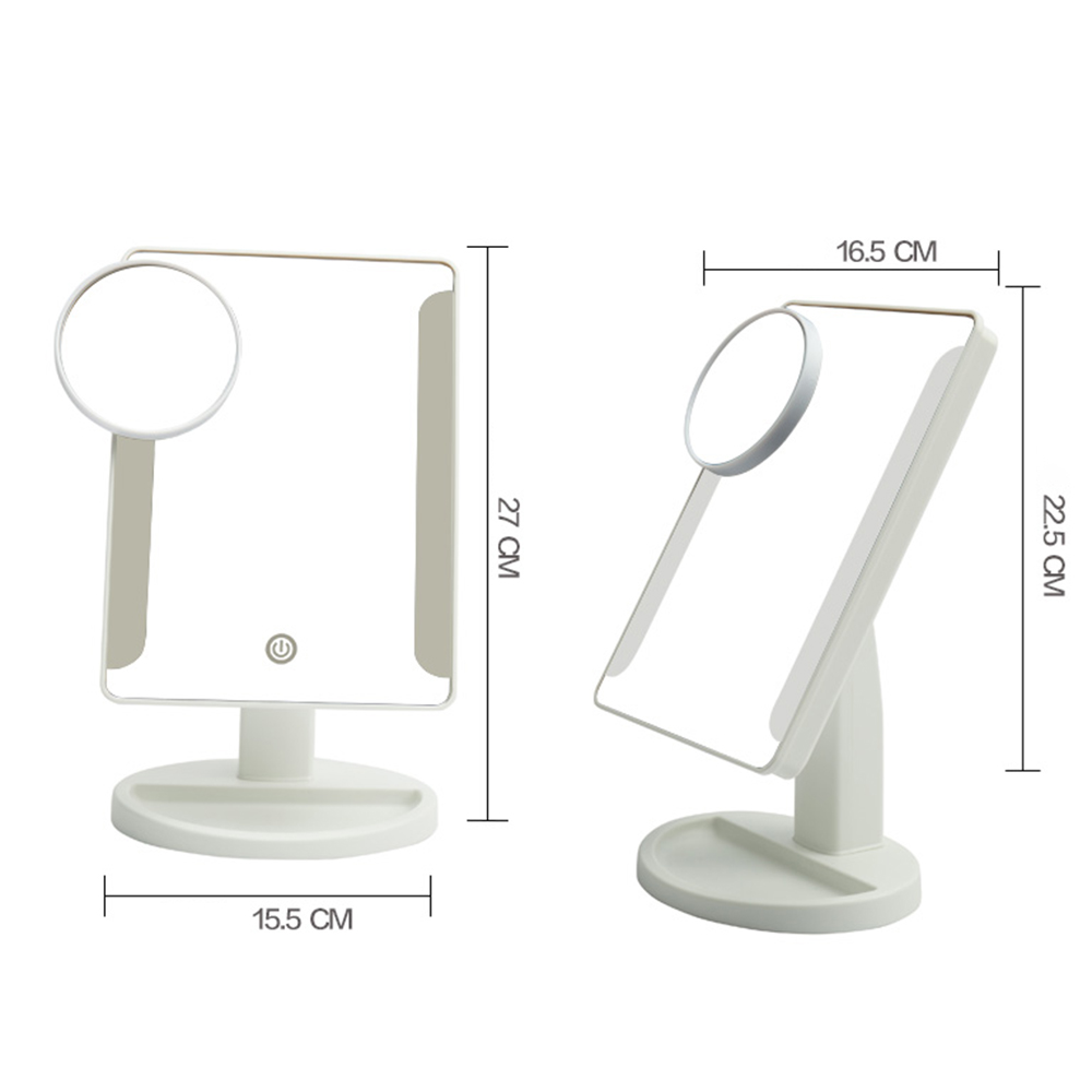 Adjustable  Led Light Makeup Mirror With Sucker X Magnifying - Mirror on a stand vanity