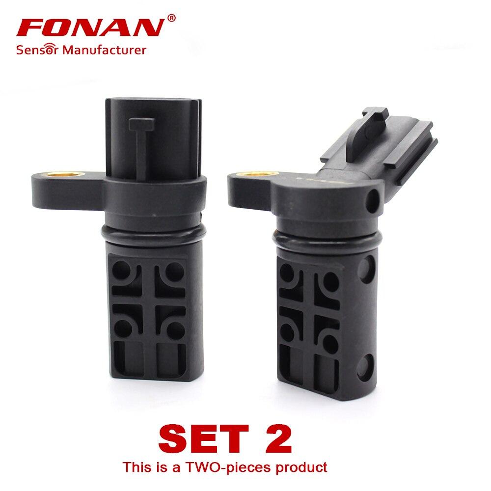 ชุด 2 เซ็นเซอร์ตำแหน่งเพลาข้อเหวี่ยง Camshaft ด้านซ้ายและขวาสำหรับ Infiniti & Nissan 237316J90B 23731AL61A 23731-6J90B 23731-AL61A
