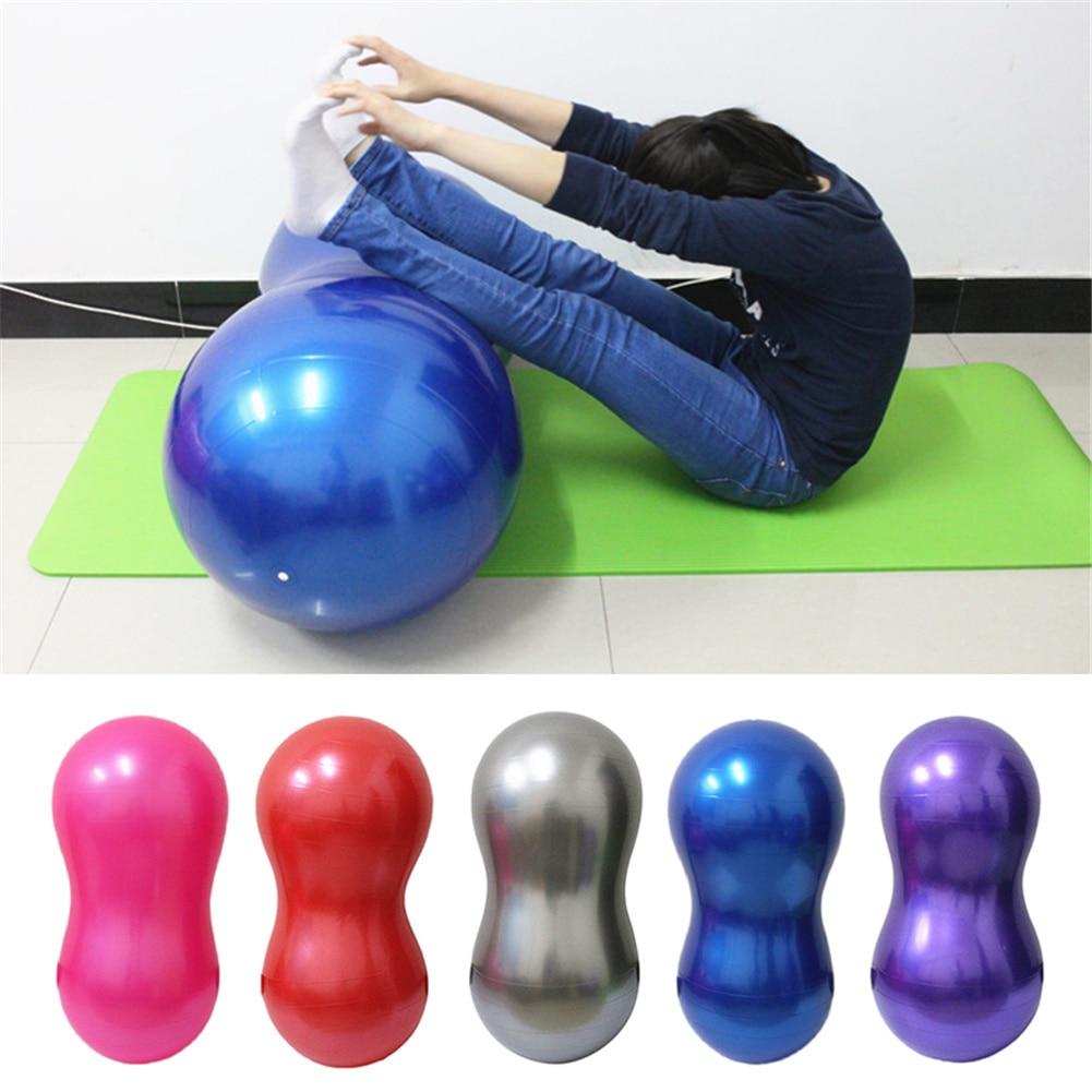 Sports Peanut Yoga Balls Bola Pilates Gym Balance Fitness Ball Exercise Pilates Workout Massage Ball 90x45cm