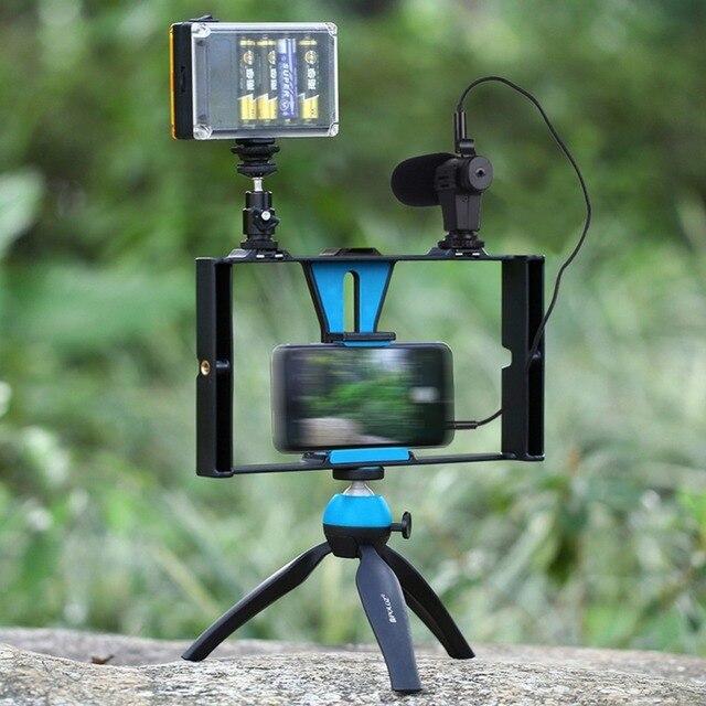 Digitalworld LED Studio Ánh Sáng Video Microphone Mini Tripod Núi Bộ Dụng Cụ Với Lạnh Giày Đầu Chân Máy Cho Điện Thoại Thông Minh #292281