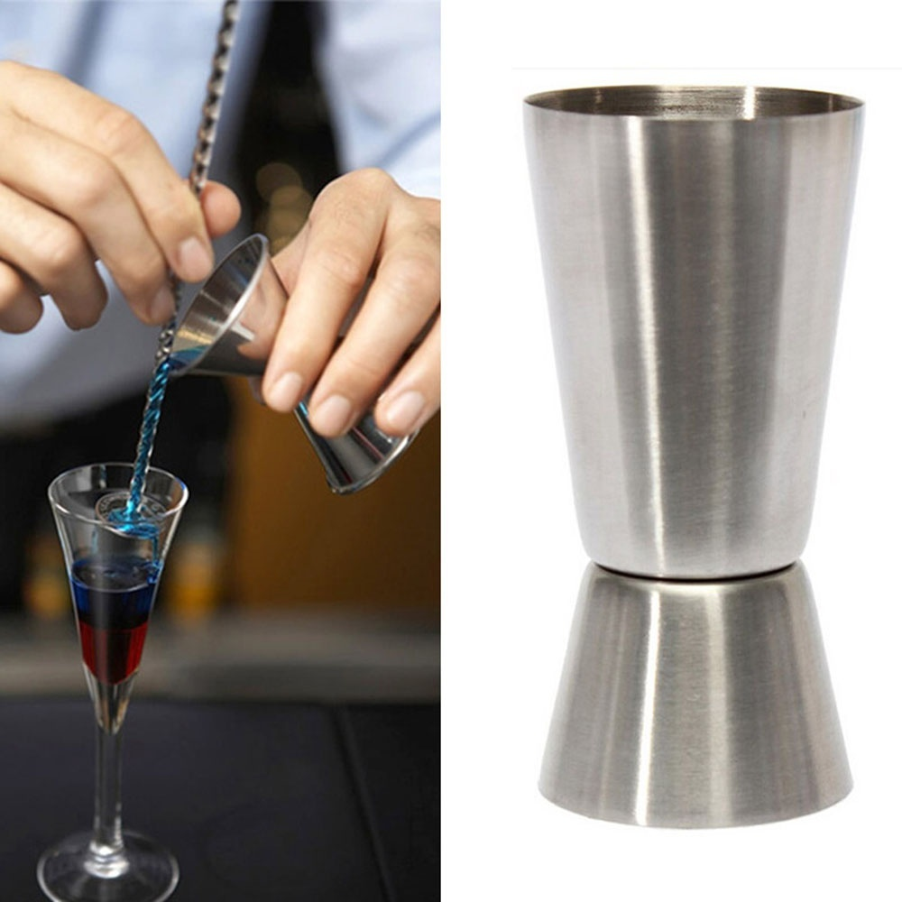 25ml To 50ml Stainless Steel Double Shot Measure Cup Bar Party Cocktail Drink Mixer Bar Tools Wine Shaker Drink Measure Cup