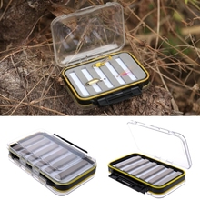Plastic Waterproof Fly Fishing Double Side Clear Slit Foam fly Fishing Box Fly Box Tackle Case Box 15.3×10.1×4.7cm