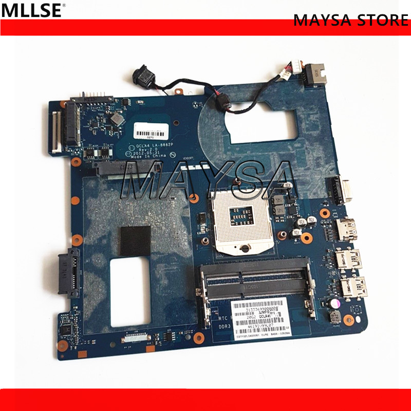 MOTHERBOARD For Samsung NP350V5C Laptop Motherboard s989, QCLA4 LA-8862P 100% Work Perfect fit for samsung np350 np350v5c 350v5x laptop motherboard qcla4 la 8861p ba59 03541a ba59 03397a ddr3 hd 7600m gpu 100