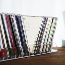 Многофункциональный акриловый стеллаж для хранения, 18 слотов, прозрачный акриловый дисплей, подставка для CD, дисплей, стойки, часы, книга, дисплей, держатель