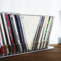 New Multi functional acrylic Storage Rack 18 slots Clear Acrylic Display Stand CD Display Racks Watch Book Display Holder
