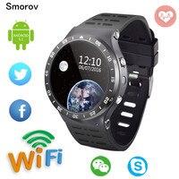 S99A 3G Smartwatch Téléphone 1.33 pouce Android5.1 MTK6580 Quad Core 1.3 GHz 8 GB ROM avec Caméra WiFi Bluetooth GPS Montre Smart Watch téléphone