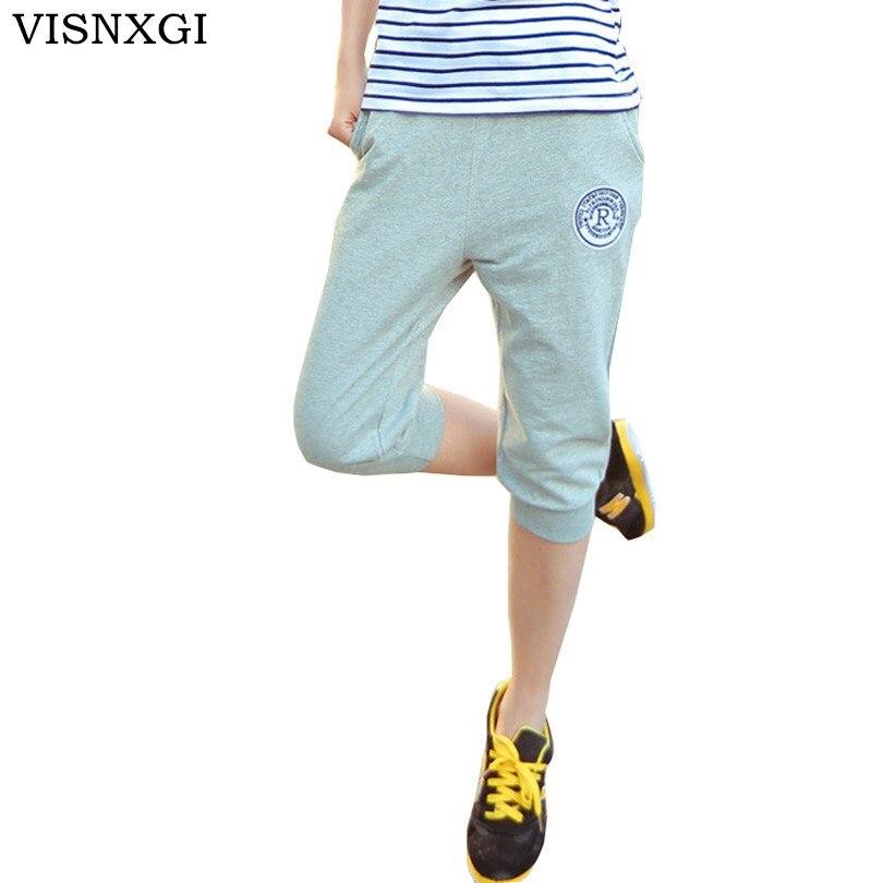 2019 New Fashion Summer Women Casual Harem   Pants   Female Women Aptitud Skinny   Pant   Deportes Long Seven Short   Capris   Trouser K010