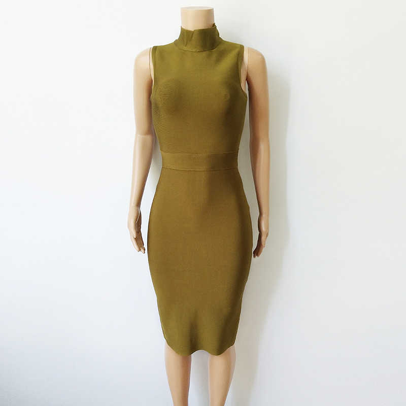 Бандажное платье Платье облегающее зеленое платье без рукавов вискозное Бандажное Платье облегающее женское элегантное Vestidos 2019 Новое знаменитое