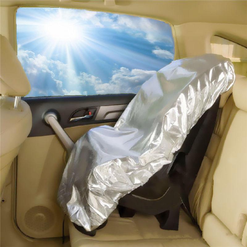 New Silver Aluminium Film 108x80cm Baby Kids Car Safety Seats Sun Shade Sunshade UV Rays Protector Cover Reflector CSL2017