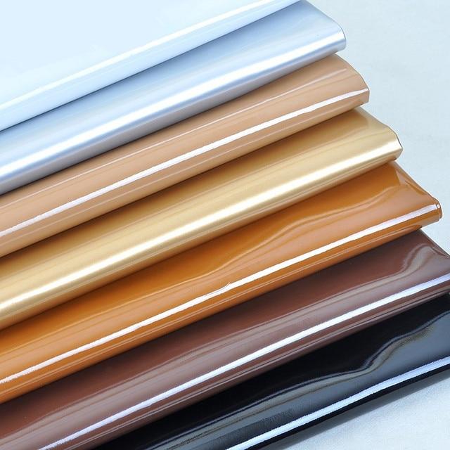 Tecidos de Couro Sintético para o Saco de Couro falso PVC Brilho Espelho decorativo de Couro Artificial para material de costura 100 cm * 140 cm