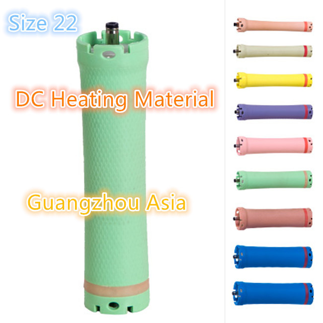 2017 hot sale hair perm roller, rod, curling, DC material, water-proof, digital perm, 36V, size 22