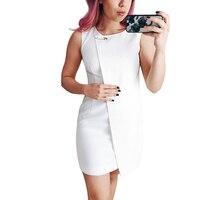 New 2017 Summer Dress Women S Euro Chic Popular Stylish Elegant Mini Dress Solid Color O