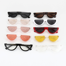 ROYAL GIRL Trendy Half Frame Rimless Flat Top Sunglasses Women 2018 Fashion Clear Glasses Brand Designer For Female Oculos ss189