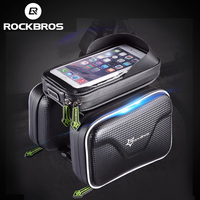 ROCKBROS Bicycle Front Tube Frame Bag Waterproof MTB Bike Bicycle Touchscreen Phone Bags For 5 8