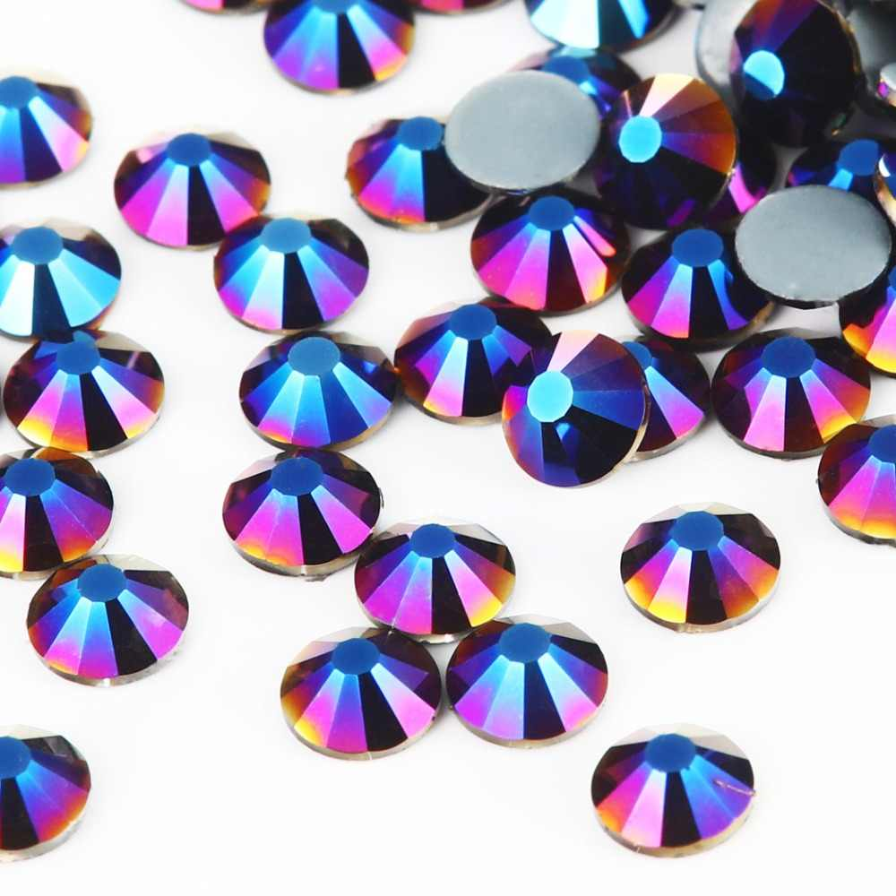 ... New SMC Cut metallic voilet Iron on Rhinestone ss16 ss20 ss30 Hotfix  Rhinestones AAAAA Grade for fc38f55e1c41