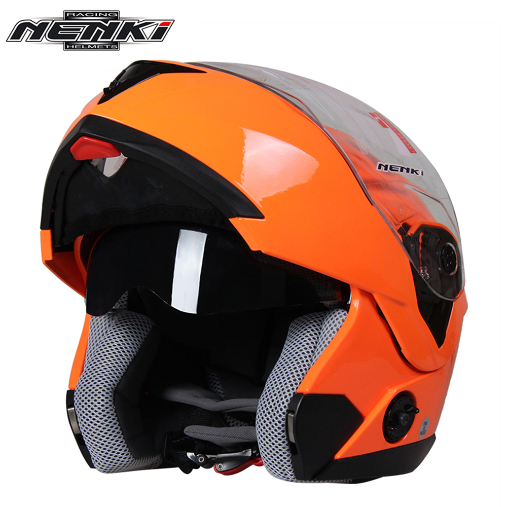 NENKI Motorcycle Helmet Full Face Men Women Street Bike Motor Motorbike Racing Modular Flip Up Dual Visor Sun Shield Lens Helmet nenki motorcycle helmets motocross racing helmet motorbike full face helmet capacete de moto for men and women 13 color