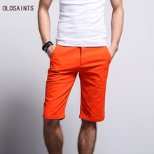 Oldsaints 2017 New Summer Europe and America Style Colorful Shorts Casual Pure Cotton Shorts For Men Cloth K499