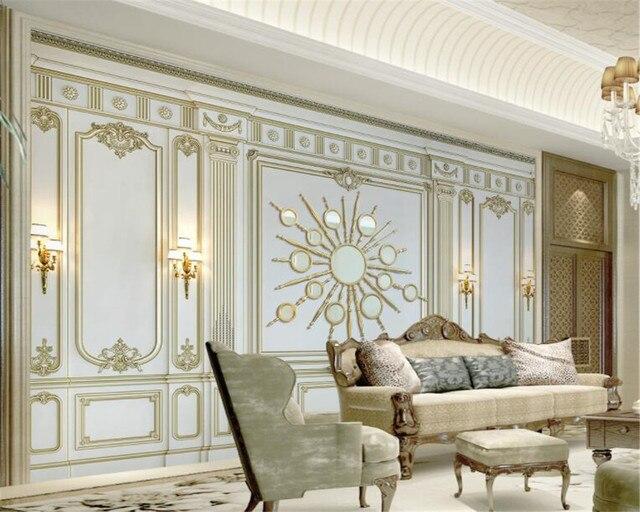 Beibehang Custom Tapete Klassischen Europäischen 3d Gold Relief Moderne  Kunst Wand Malerei Wohnzimmer Schlafzimmer 3d Tapete