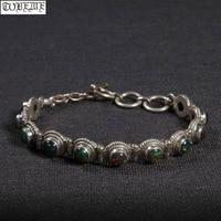 Handmade Nepalese 100% 925 Silver Chain Bracelet Vintage 925 Sterling Valued Women Bracelet Bohemia Bracelet