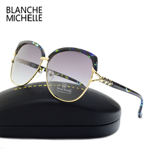 Blanche Michelle 2018 High Quality Square Polarized Sunglasses Women Brand Designer UV400 Sun Glasses Gradient Sunglass With Box