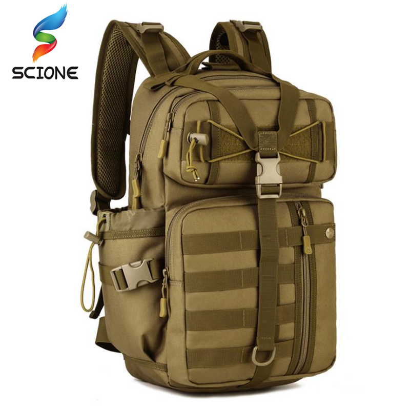 Men Outdoor 3P Tactical Backpack 900D Waterproof Army Shoulder Military hunting camping Women Multi-functional Molle Sports Bag цена