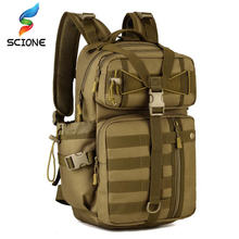 Men Outdoor 3P Tactical Backpack 900D Waterproof Army Shoulder Military hunting camping Women Multi-functional Molle Sports Bag цена 2017