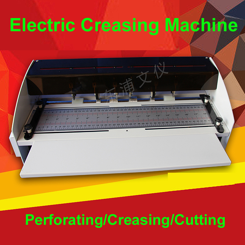 H500 NEW 110/220V 18.5inch 470mm Electric Creaser Scorer Perforator Cutter 3 Function Paper Cutting Creasing Perforating Machine 2017 new manual rotary paper cutter trimmer 310mm 20sheets paper cutting and perforating double function new design