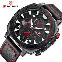 Nouveau grand cadran sport montres pour hommes bracelet en cuir militaire montre homme marque de luxe montre-bracelet casual reloj hombre 2016 LB80216