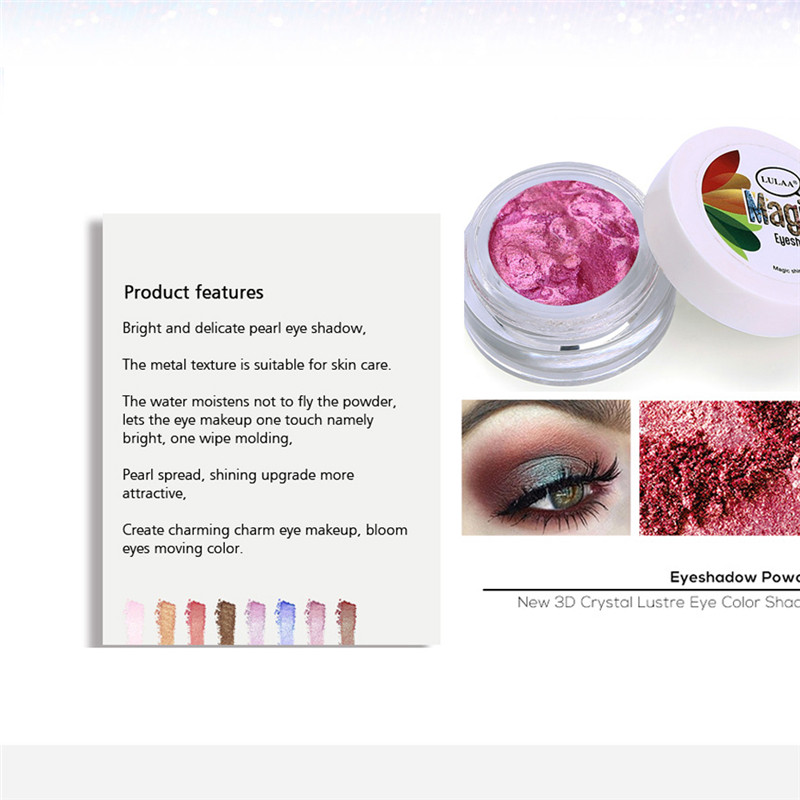 1PCS Single Color Glitter Eye Shadow Palette Shimmer Cream Eyeshadow Pearly Shiny Eyes Long Lasting Highlighter Makeup Cosmetics in Eye Shadow from Beauty Health
