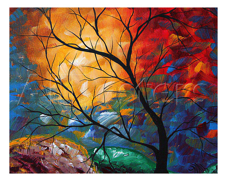 gift modern art landscape jeweled dreams oil painting