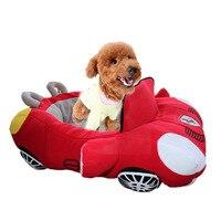 2 Kolory Pies Samochodów Bed Legowisko Sofa dla Małych Psów i Kotów Odpinany Bawełny Wyściełane polar Łóżka Psa Pies Dom Wodoodporny Hodowla Puppy