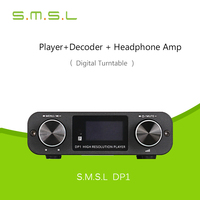 Amplifiers 2017 SMSL DP1 HIFI Player Turntable Decoder DAC 32Bit Headphone AMP SD&USB Input /RCA 3.5mm Digital Fiber Output DC9V