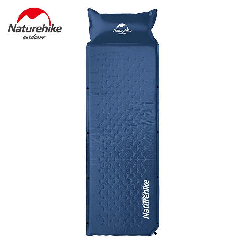 NatureHike colchón para dormir de una persona cojín inflable automático cama de cojín portátil con almohada plegable tienda de campaña estera