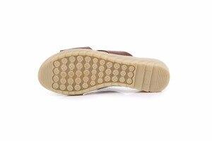 Image 4 - GKTINOO, cómodas zapatillas de verano de cuero de vaca, plataforma de cuñas bajas, zapatos de playa informales para mujer, talla grande 35 42