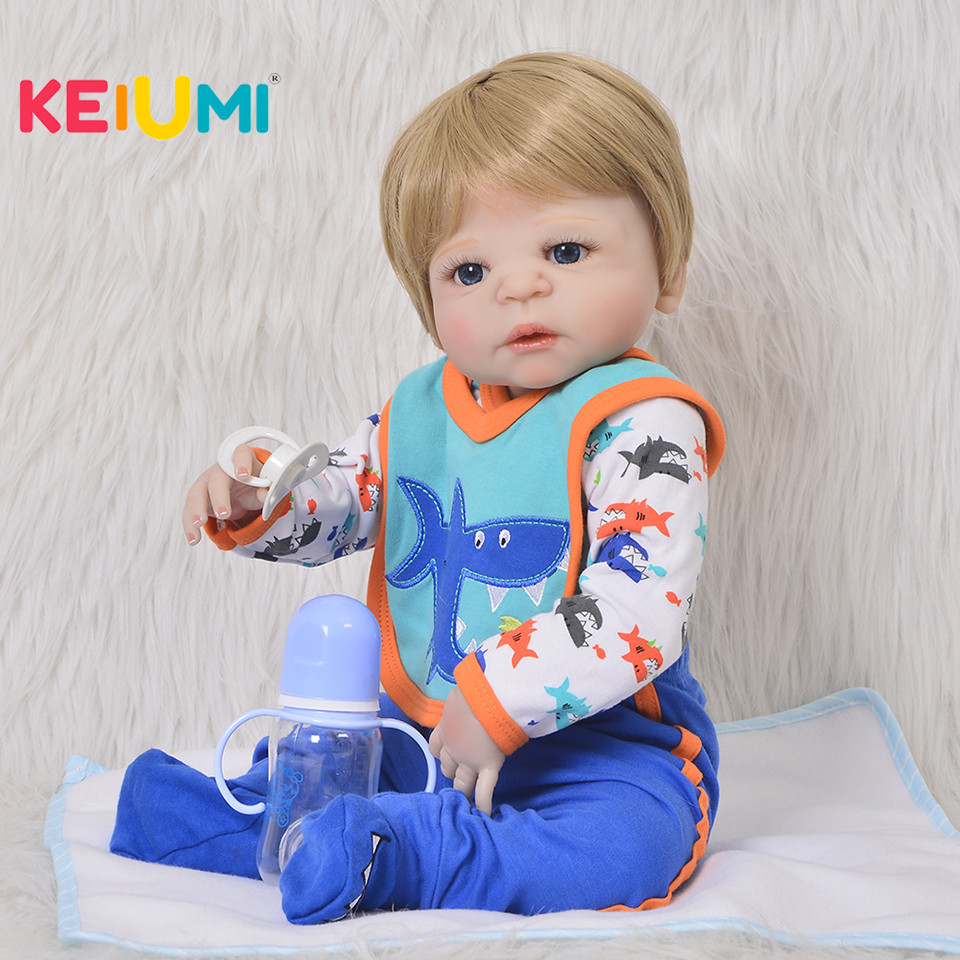 57 cm Baby Doll Toy For Boy Realistic Silicone Reborn Baby Doll Newborn 23'' Full Body Vinyl can Bathe Like Real Babies Gifts real like 57 cm sleeping boneca reborn lifelike full body silicone vinyl reborn dolls babies princess baby doll toy for gifts