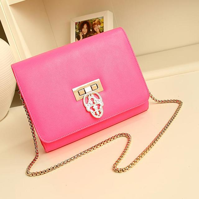 Summer new arrival 2013 candy color fashion chain of packet clutch bag handbag female bags