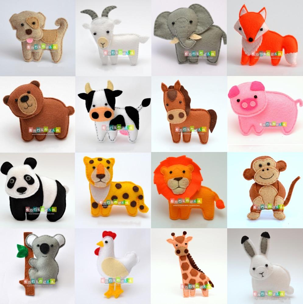 Small animal doll Felt kit Non-woven cloth Craft DIY Sewing set Felt Handwork Material DIY needlework supplies