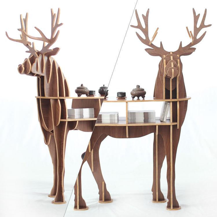 Fa szarvas otthoni dekorációs dohányzóasztal KING II. Önálló - Bútorok - Fénykép 6