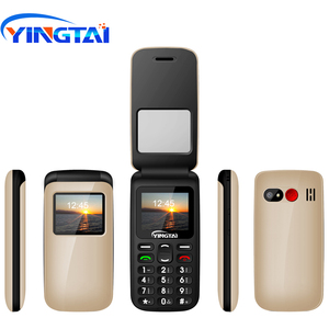 Image 5 - YINGTAI T40 Big push button cheap flip phone for elder Unlocked 1.77 inch wireless FM SOS telephone  Express mobile phone