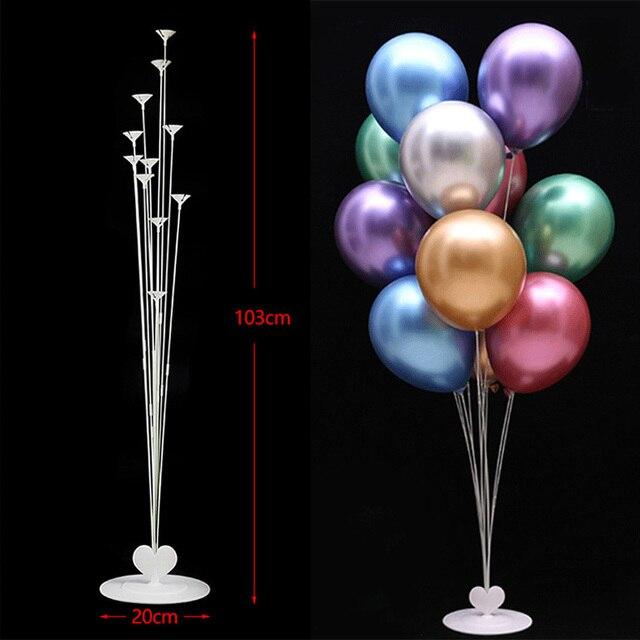 Suporte Titular Estande Coluna Balão Vara balão Balões De Aniversário Decorações Da Festa de Aniversário Crianças Decoração de Casamento Favor Do Chuveiro de Bebê