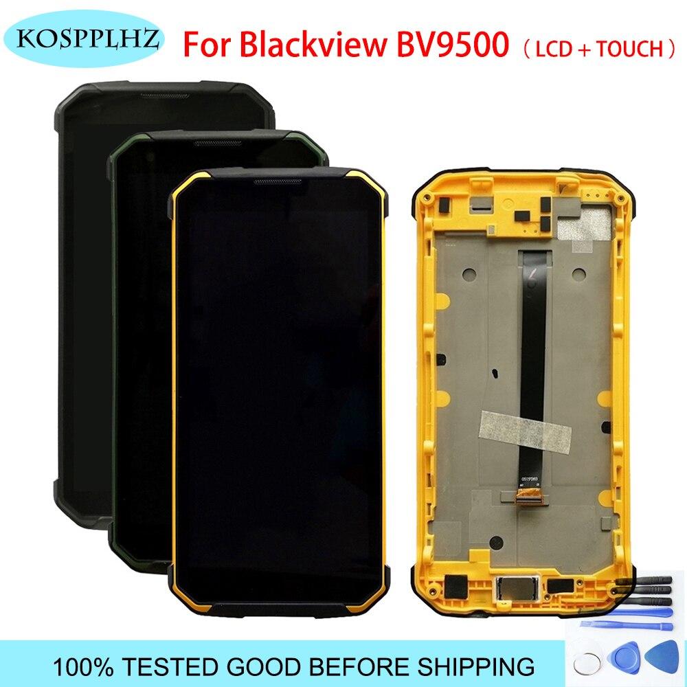 Blackview bv9500 pantalla LCD pantalla táctil para BLACKVIEW BV9500 montaje de pantalla LCD con marco de 5,7 pulgadas + herramientas-in Teléfono Móvil LCD pantallas from Teléfonos celulares y telecomunicaciones on AliExpress - 11.11_Double 11_Singles' Day 1