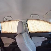 Aluminum Alloy Elastic Car Side Window Sunshade Curtains Auto Windows Curtain Sun Visor Blinds Cover car-styling