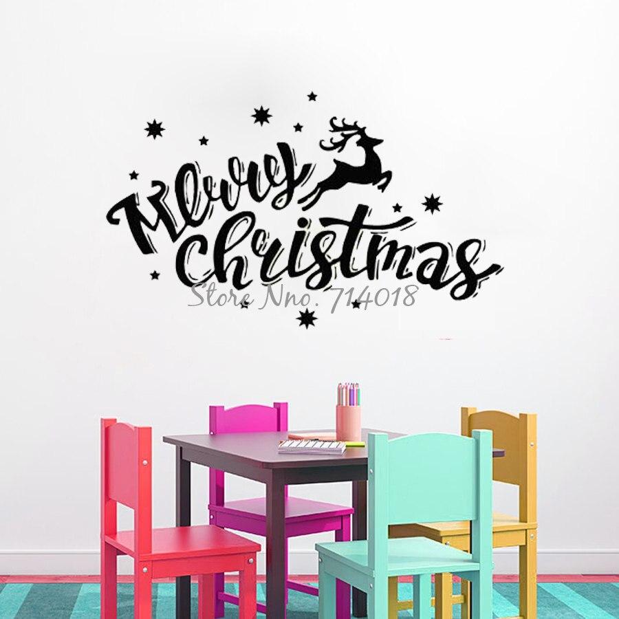 online get cheap christmas star stickers aliexpress com alibaba new year vinyl wall decals deer snowflake merry christmas star wall sticker vinyl art murals festival