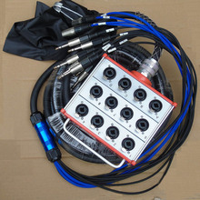 купить KUILONG Pro Audio 12 channel  Stage Snake Cable wiht XLR COMBO JACK BOX 30Meter недорого