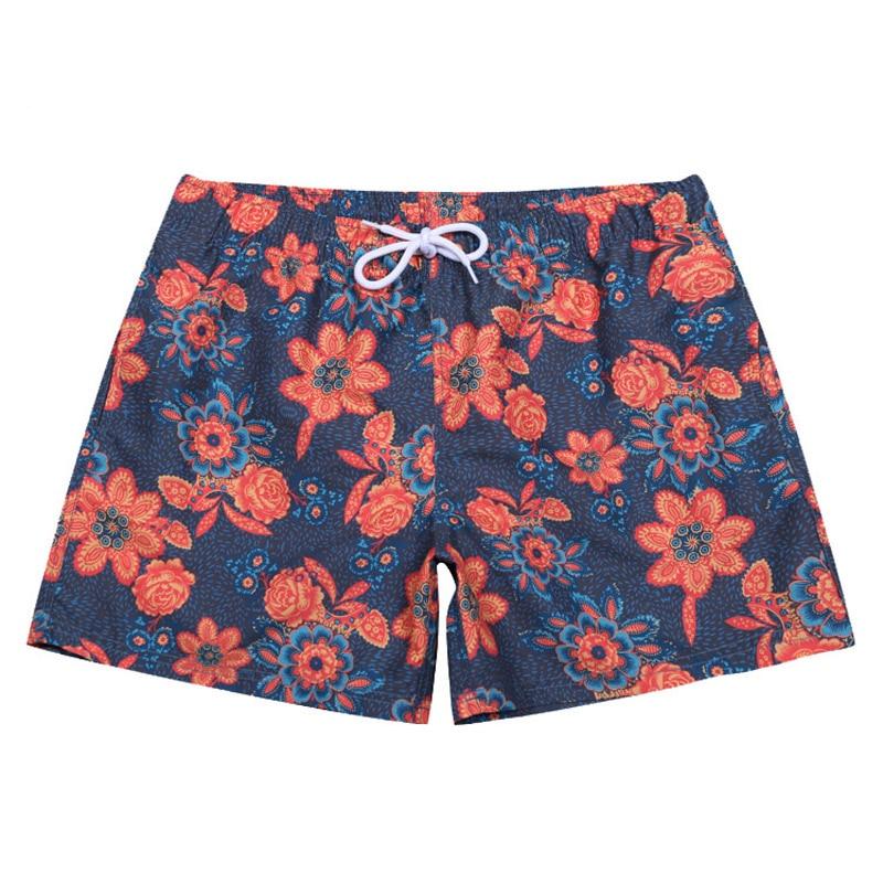 Beautiful Tropical Flamingo Mens Swim Trunks Summer Beachwear Board Shorts Quick Dry Print