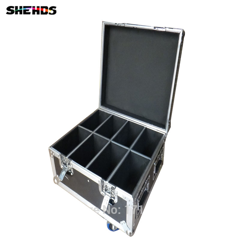 Flight Case with 8 pieces Wireless remote control LED Par 9x12W RGBW 4IN1 LED with 8 pieces DMX Cables Fast Shipping