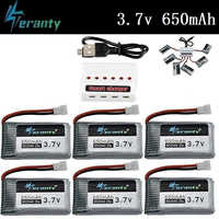 6-in-1 3,7 v 650mah Lipo Batterie Ladegerät Set Für X5 X5C X5SC X5SW X6SW H9D h5C M68 FY550 HJ818 HJ819 L15FW 852540 RC Ersatzteile